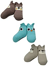 Lovespun Baby Forest Animals 3 Pack Gift Box Sock Set, Assorted, 0-12 Months