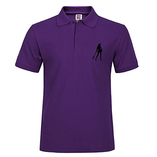 Casual Performance Polo Shirt Breathable Short Sleeve Tee She-devil Specail Style For Men