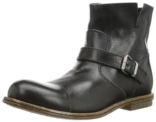 MOMA Womens biker buckle Boots Black Schwarz (nero) Size: 9 (41 EU)