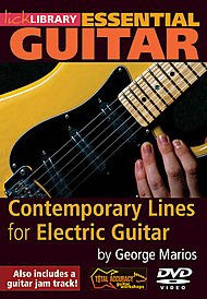 Contemporary Lines For Electric Guitar By George Marios Dvd front-432364