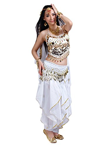 AveryDance Professional Belly Dance 5 Pieces Set Costume