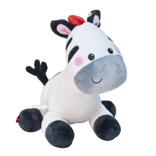 Fisher-Price Musical Waggy Plush Toy, Zebra front-89151