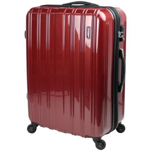 スーツケース TSAロック 搭載 超軽量 レグノライト2013~ ジャスト型 ミラー加工 旅行かばん キャリーバッグ トランク 【SUCCESS サクセス】(ジャスト型 70㎝, ヴェネシアンレッド)