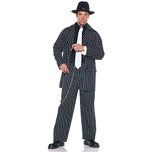 Zoot Suit Pin Stripe Gangster Adult Costume - One Size