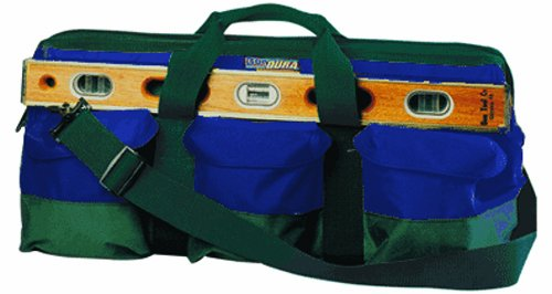 BonDura 41-108 24-Inch by 10-Inch by 11-Inch Mason's Tool Bag, Hunter Green and Blue