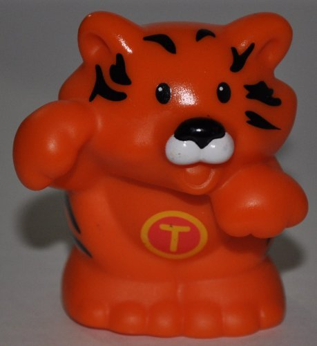 "Little People Tiger ""T"" on Chest (2004) - Replacement Figure Accessory - Classic Fisher Price Collectible Figures - Loose Out Of Package & Print (OOP) - Zoo Circus Ark Pet Castle - 1"