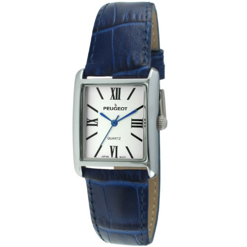 peugeot-womens-silver-tank-roman-numeral-blue-leather-band-watch-3036bl