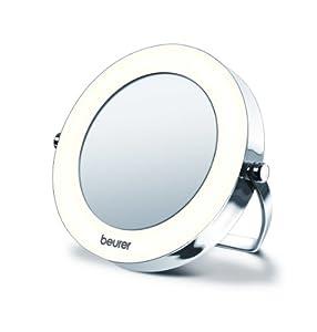 Beurer - BS 29 - Miroir de Poche Éclairé avec Pochette de Rangement