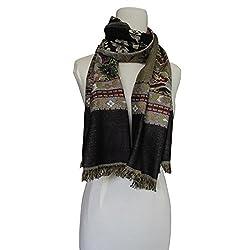 Vozaf Women's Viscose Shawls - Black And Brown