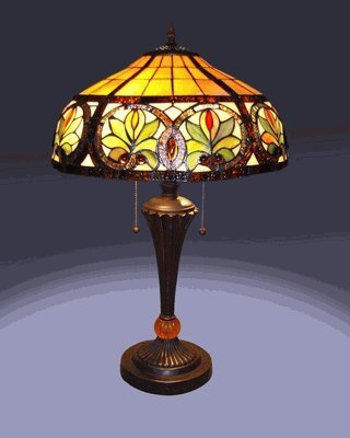 online shopping for the tiffany style sunrise table lamp. Black Bedroom Furniture Sets. Home Design Ideas