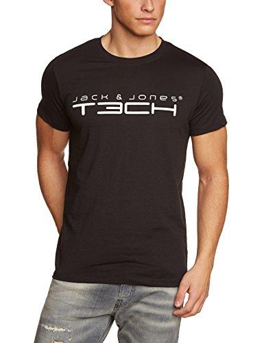 Jack & Jones Tech, Maglietta girocollo a maniche corte Uomo JJ Foamnew, Nero (Black), 50
