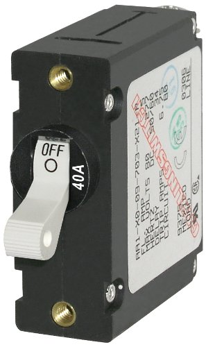Blue Sea Systems 7226 AC/DC Single Pole Magnetic World Circuit Breaker