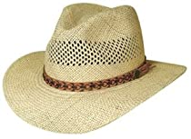 """Large/X-Large """"Tropical Breeze"""" Panama Straw Vented Aussie Hat"""