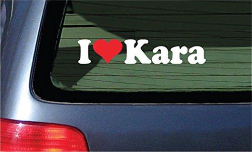 I Love Kara Vinyl Decal - White With A Red Heart Sticker (Kara Merchandise compare prices)