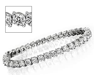 10.00 ct Eternity Bracelet in 18K White Gold