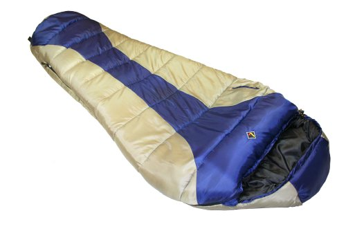 Ledge Sports River -20 F Degree XL Oversize Mummy Sleeping Bag (86 X 34 X 24, Blue)