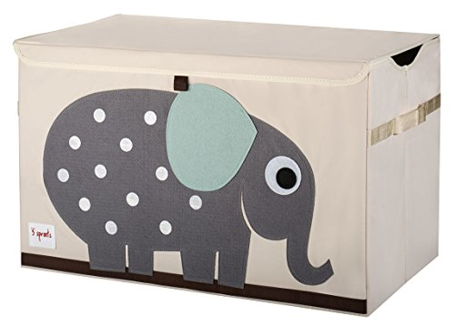 3 Sprouts Toy Chest, Elephant, Grey (Toy Store 3 compare prices)