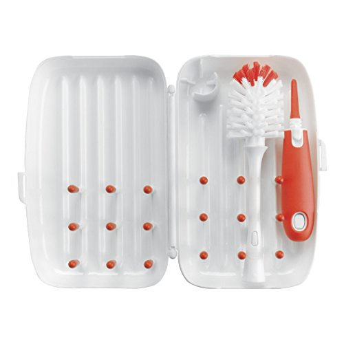 All 4 NewBorn OXO Tot On The Go Drying Rack and Bottle Brush, Orange Color: Orange NewBorn, Kid, Child, Childern, Infant, Baby