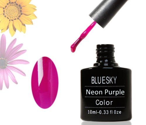Bluesky Color Soak Off UV Gel Nail Polish LED Salon Manicure Neon Purple .33oz 10ml #11