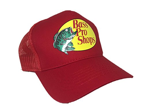 Authentic Bass Pro Mesh Fishing Hat - Red, Adjustable, One Size Fits Most (Bass Pro Shops Cap compare prices)