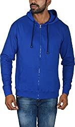 Le Beau Classics Men's Cotton Zipper Hoodies GR_013_ Royal Blue_M