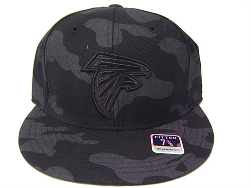 Size 7 1/2 NFL Atlanta Falcons Gray/black Camouflage Flat Bill Fitted Cap at Amazon.com
