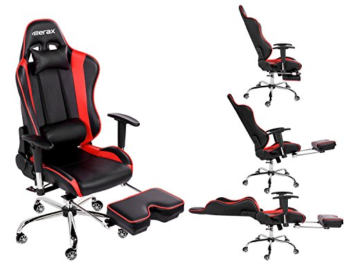 merax ergonomic series pu leather office chair racing chair with