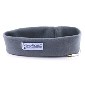 AcousticSheep SleepPhones Classic Sleep Headphones (Gray, Medium - One Size Fits Most)