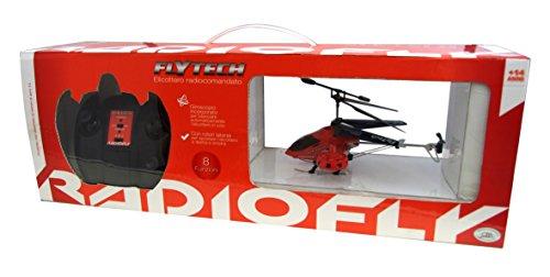 Ods 32467 - Radiofly Flytech, 8 Funzioni, Prodotto Assortito Disponibile in 2 Colori Azzurro e Rosso