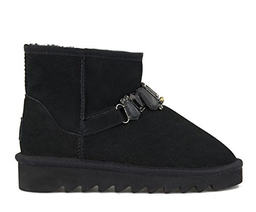 COLORS OF CALIFORNIA STIVALE WINTER BOOTS CON ACCESSORI UGG 18-F16 NERO MIS.37