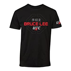 UFC Men's Bruce Lee Sig Tee, Black, Large