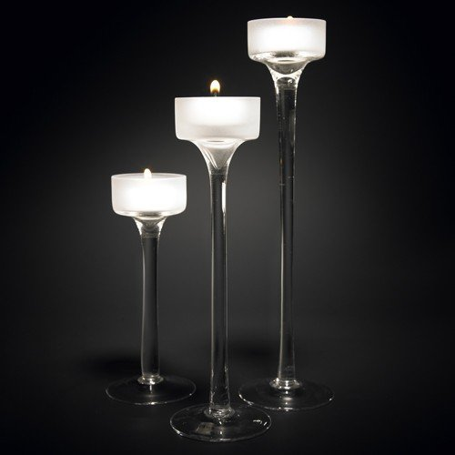 Alicia: Set of 3 Glass Candleholders
