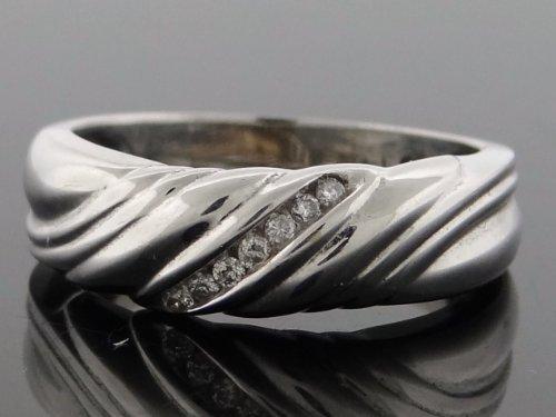 Classic Designer Wedding Band Ring 14k White Gold 0.25ct Diamonds WG-WB-R196-JGK