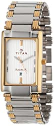 Titan Regalia Analog White Dial Mens Watch - NC1234BM01
