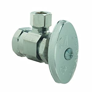 BrassCraft PSB18X Multi Turn Angle Water Shut Off Valve, Chrome Plated