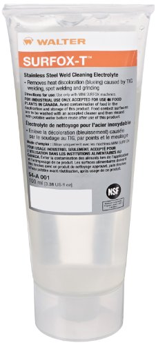 Walter 54A001 Surfox-T Heavy Duty Weld Cleaning Electrolyte, 100mL Liquid (Pack of 6) (Stainless Pickling compare prices)