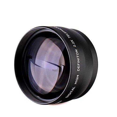 K&F Concept® 58mm Super Weitwinkelkonverter 2.2x Professionell HD Weitwinkel Objektiv Vorsatz mit Makrolinse für Canon Rebel T5i T3i XTi XS T4i T2i XT SL1 T3 T1i XSi EOS 1000D 600D 450D 100D 650D 700D 550D 400D 500D 300D 1100D and Nikon D7100 D5100 D3100 D300 D90 D70s D40x D3X D7000 D5000 D3000 D300S D80 D60 D3 D5200 D3200 D700 D200 D70 D40 D3S