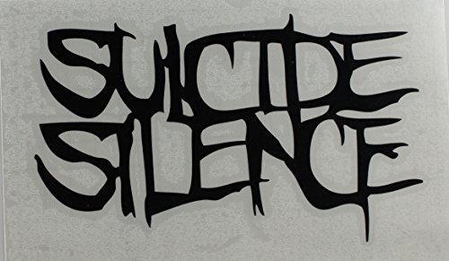 Licenses Products Suicide Silence Logo Rub On Sticker, Black