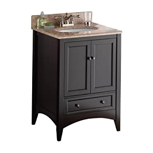 Foremost Beca2421d Berkshire 24 Inch Espresso Bathroom Vanity Vanity Sinks