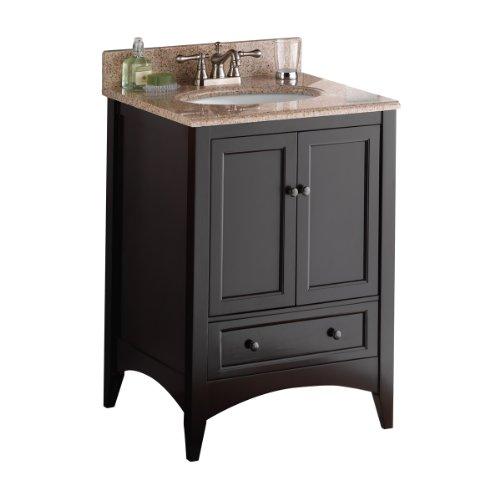 Foremost BECA2421D Berkshire 24-Inch Espresso Bathroom Vanity