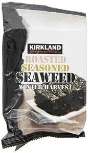 Kirkland Signature Roasted, Seasoned Seaweed Winter Harvest 10 - 17 gm Packages