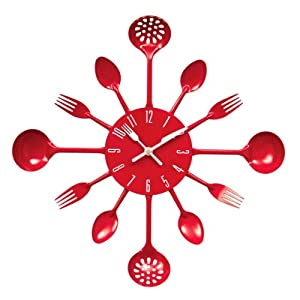 Premier Housewares 2200501 Horloge Murale Couverts En