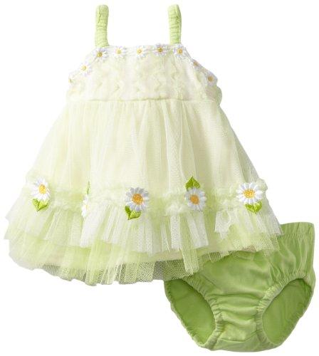 女宝宝小雏菊吊带裙+尿布裤