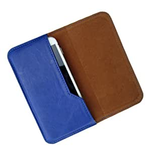 i-KitPit : PU Leather Flip Pouch Case Cover For Huawei Ascend Mate2 4G (BLUE)