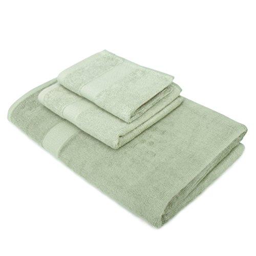 Maypluss 3 Pack 100 High Quality Bamboo Fiber Bath Towel Bath Towel Set Green Home Garden