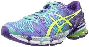 ASICS Women's Gel-Kinsei 5 Running Shoe,Periwinkle/Flash Yellow/Mint,8 M US
