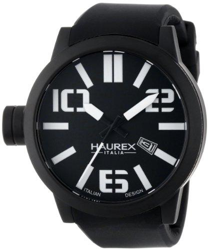 Haurex Italia Orologio da Uomo Nero 1N377UNTurbina IP Custodia in silicone [Orologio] Quadrante Nero , Funzione Data