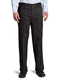 Dockers Men\'s Comfort Khaki D4 Relaxed Fit Flat Front Pant, Dark Charcoal Heather, 36X32