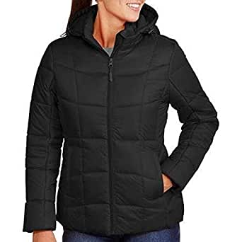 Faded Glory Women's Hooded Full-Zip Puffer Coat Jacket at