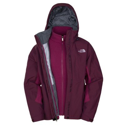 Northface women Evolution TriC Jacket, Colour: Bordeaux Red, Size: S